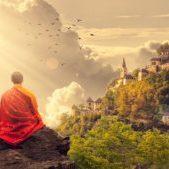Monk Temple Meditation Panorama Buddhist Buddhism