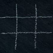 Upon a blackboard, an empty grid for the game tic tac toe has been drawn